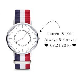 2018 Christmas Day Gift Classic Custom Women's Watch with Your Text Design Nylon Band