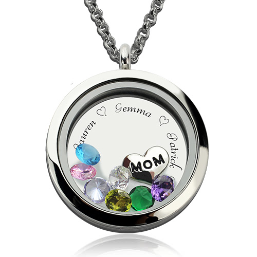 personalized locket necklace for nana