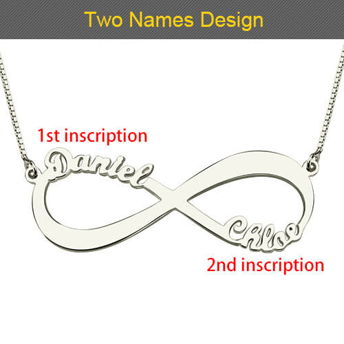 2 names infinity necklace