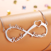 Personalized Infinity Eternity Symbol Name Necklace