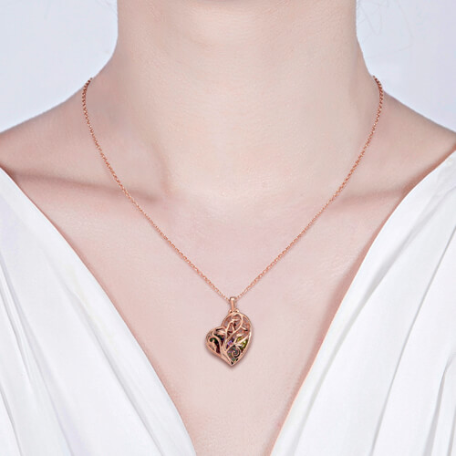 heart cage necklace