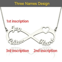 3 names infinity necklace