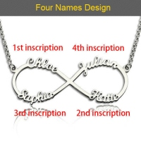 4 names infinity necklace