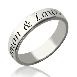 a720066acb Personalized Promise Name Ring Sterling Silver