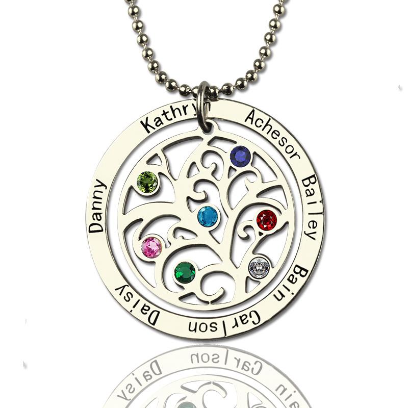 Personalized motherhood birthstone name necklace mozeypictures Choice Image